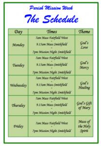 Parish Mission Schedule